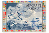 Military Planes of the World Aircraft Insignia WWII War Propaganda Art Print Poster Prints