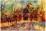 Pierre-Auguste Renoir (St. Mark's Square in Venice) Art Poster Print Plakater