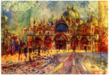 Pierre-Auguste Renoir (St. Mark's Square in Venice) Art Poster Print Prints