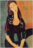 Amadeo Modigliani Portrait of Jeanne Hebuterne 6 Art Print Poster Posters