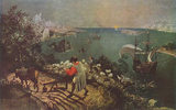 Pieter Brueghel (Landscape with the Fall of Icarus) Art Poster Print Masterprint