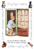 Beatrix Potter Ginger and Pickle Art Print Peter Rabbit Poster - Poster