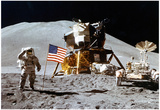 Moon Landing Salute Archival Photo Poster Print Affiches