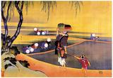 Katsushika Hokusai Workers in Rice Fields Art Poster Print Prints