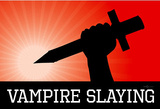 Vampire Slaying Red Poster Print Masterprint
