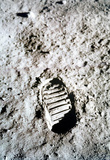 Moon Landing Footprint Archival Photo Poster Print Masterprint
