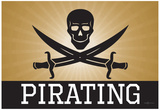 Pirating Gold Pirate Poster Print Posters
