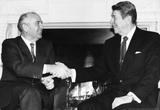President Ronald Reagan and Mikhail Gorbachev Archival Photo Poster Print Masterprint