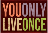 You Only Live Once Art Print Poster Affiche
