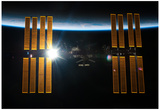 Sun Behind International Space Station 2011 Photo Poster Pôsters