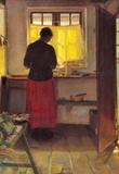 Anna Ancher Girl in the Kitchen [1] Art Print Poster Masterprint
