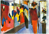 August Macke Fashion Store Art Print Poster Poster
