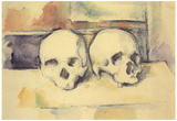 Paul Cezanne Still Life with Two Skulls Art Print Poster Posters