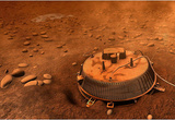 Huygens Probe on Titan Space Poster Print Masterprint