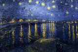 Vincent Van Gogh (Starry Night Over the Rhone) Starlight Art Poster Print Masterprint
