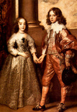 Anthony Van Dyck William of Orange with his Future Bride Art Print Poster Masterprint