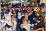 Pierre Auguste Renoir Ball at the Moulin Galette Art Print Poster Posters