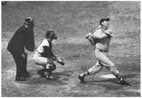 Ted Williams Long Ball Boston Red Sox Archival Photo Sports Poster Print Posters