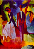 August Macke Folks at the Blue Sea Art Print Poster Prints