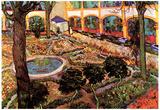 Vincent Van Gogh The Courtyard of the Hospital at Arles Art Print Poster Prints