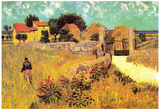 Vincent Van Gogh Farmhouse in Provence Art Print Poster Posters