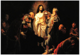 Rembrandt Christ Shows His Wound Art Print Poster Prints