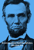 Abraham Lincoln Stand Firm iNspire Quote Poster Masterprint