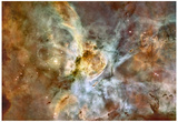 The Carina Nebula: Star Birth in the Extreme Space Photo Art Poster Print Posters