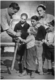 Babe Ruth with Kids Archival Photo Poster Print Posters