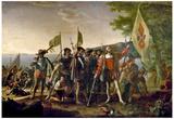 John Vanderlyn Landing of Columbus Art Print Poster Posters