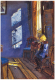 Anna Ancher Sunshine in the Blue Room Art Print Poster Posters