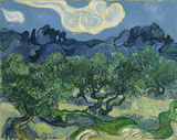 Vincent Van Gogh (The Olive Trees) Art Poster Print Masterprint