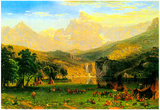 Albert Bierstadt Rocky Montains at Lander's Peak Poster Posters