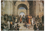 Raphael (The School of Athens) Art Poster Print Posters