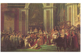 Jacques-Louis David (Napoleon crowned Empress Joséphine) Art Poster Print Posters