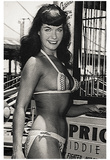 Bettie Page Kiddie Ride Archival Photo Poster Print Poster