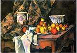 Paul Cezanne Still Life with Apples and Peaches Art Print Poster Prints