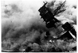 Pearl Harbor (USS Arizona Burning) Art Poster Print Poster