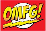 OMFG! Comic Pop-Art Art Print Poster Poster