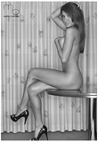 April Gutierrez Nude Black and White Sexy Photograph Photo Poster by Mario Brown Print