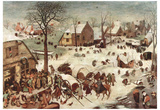 Pieter Brueghel (Census at Bethlehem) Art Poster Print Posters