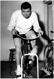 Babe Ruth Exercise Bike Archival Photo Sports Poster Print Print