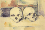 Paul Cezanne Still Life with Two Skulls Art Print Poster Masterprint