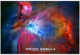 Orion Nebula Text Space Photo Poster Print Photo