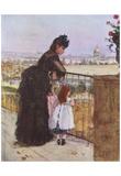Berthe Morisot (Balcony) Art Poster Print Posters