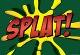 Splat! Comic Pop-Art Art Print Poster Masterprint