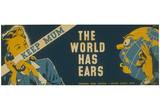 US Navy (Keep Mum, The World Has Ears) Art Poster Print Photo