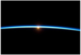 Thin Blue Line of Earth Atmosphere Poster Prints