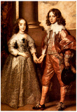 Anthony Van Dyck William of Orange with his Future Bride Art Print Poster Posters