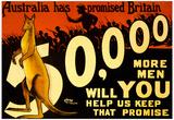 Australia War Propaganda Vintage Ad Poster Print Prints